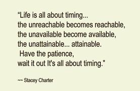timing saying